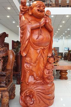Tượng gỗ Di Lặc GỖ HƯƠNG 039
